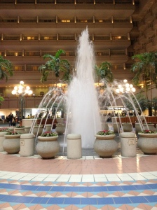 fountain at orlando airport