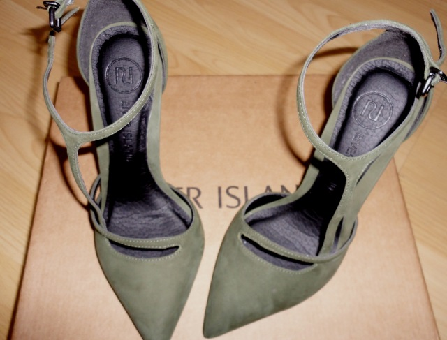 river island green shoes