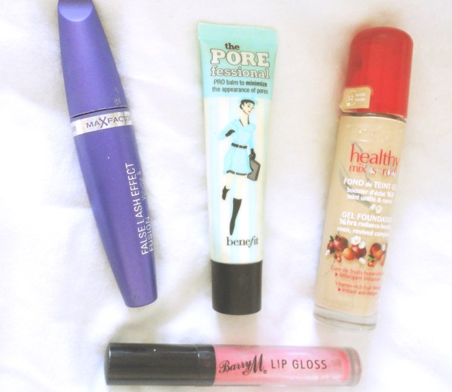 products i used up, bourjois, maxfactor mascara, porefessional benefit, barry m lip gloss