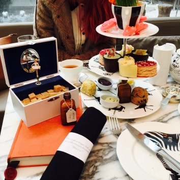 afternoon tea at sanderson hotel