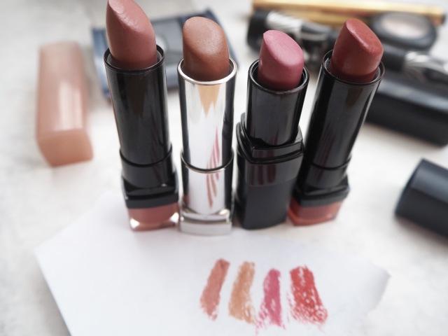 bourjous, maybelline, bobbi brown lipstick